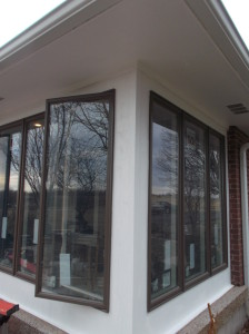 Anderson Dark Bronze wood-clad casement window