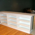 Custom book shelves